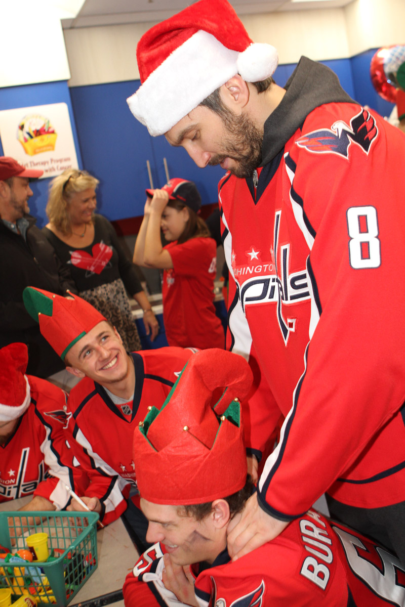 Photos of Alex Ovechkin Giving Andre Burakovsky a Back Rub