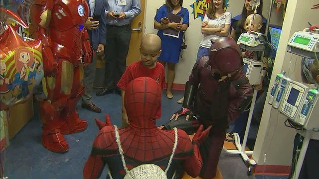 Hope For Henry helps superheroes give hope to seriously ill children